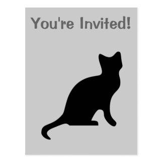 Postal Gato negro - asustadizo fantasmagórico