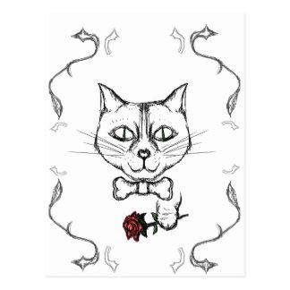 Postal Gato sofisticado