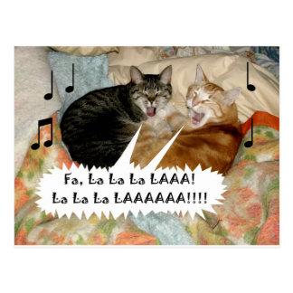 Postal Gatos del canto
