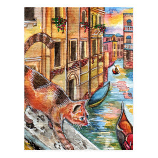 Postal Gatos en Venecia