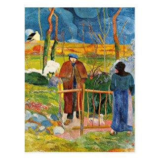 Postal Gauguin - Bonjour, Monsieur Gauguin