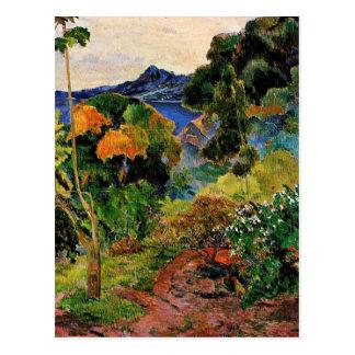 Postal Gauguin - paisaje de Martinica