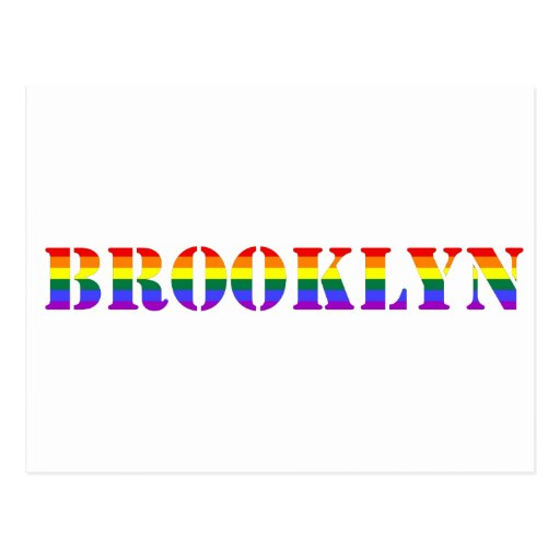 Postal gay de Brooklyn