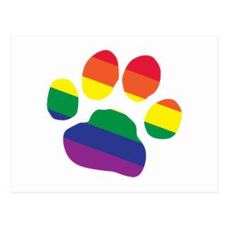 Postal Gay-Orgullo-Pata-Impresión