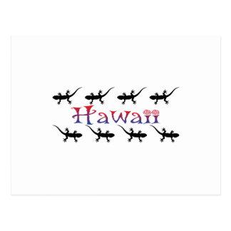 Postal geckos del hawai