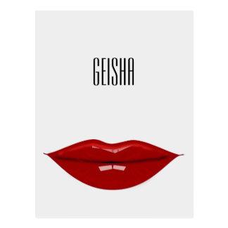 Postal geisha - productos de papel