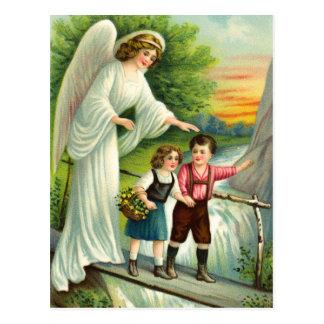 Postal Gel, de protección, niños y puente,