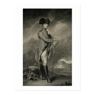 Postal General Cornwallis (1738-1805) grabado por Juan Jo