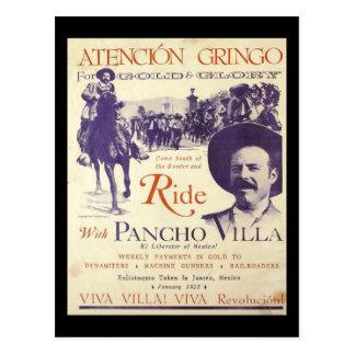 Postal General mexicano del héroe de Pancho Villa