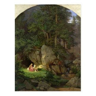Postal Genoveva en el claro de madera, 1839-41