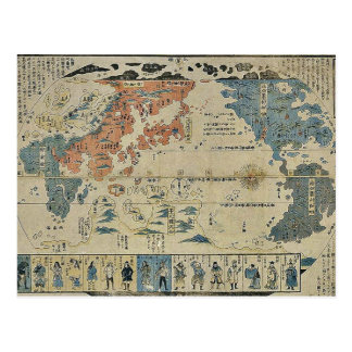 Postal Gente de muchas naciones Ukiyoe
