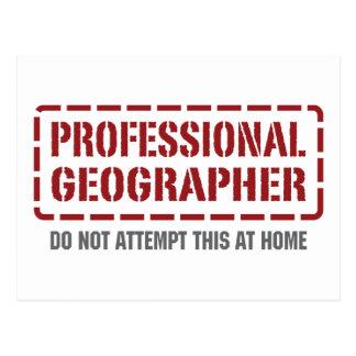 Postal Geógrafo profesional