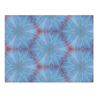 Postal geométrica de Caleidoscopic de la mariposa
