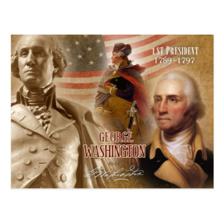 Postal George Washington - 1r presidente de los E.E.U.U.