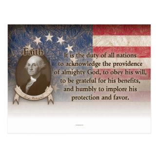 Postal George Washington - fe