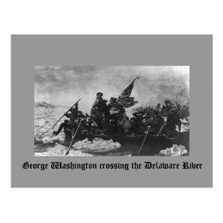 Postal George Washington que cruza el río Delaware