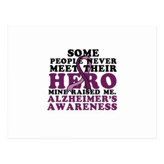 Postal GIF de la ayuda de la conciencia de Alzheimer