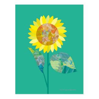 Postal Girasoles florecientes