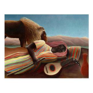 Postal Gitano durmiente de Henri Rousseau