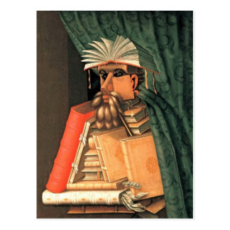 Postal Giuseppe Arcimboldo -- el bibliotecario
