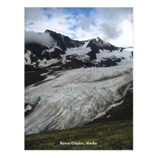 Postal Glaciar del cuervo, Alaska