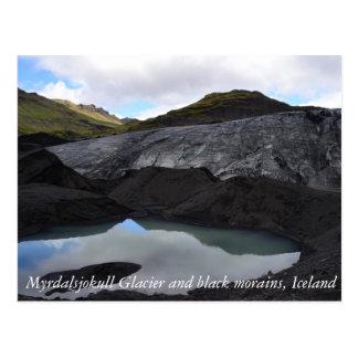 Postal Glaciar islandés