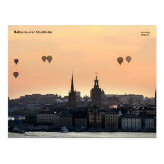 Postal Globos sobre Estocolmo