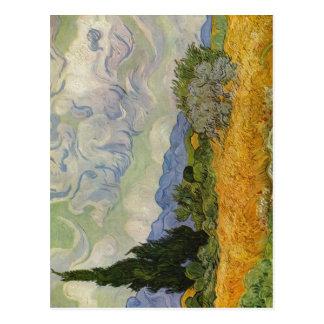 Postal Gogh, mit Zypressen de Vincent Willem van