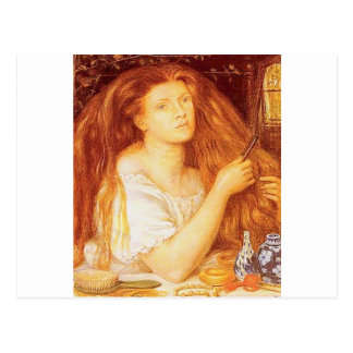 """Postal """"GoldenTresses"""" por Rossetti"""
