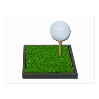 Postal GolfBallOnTeeOnGrass102111