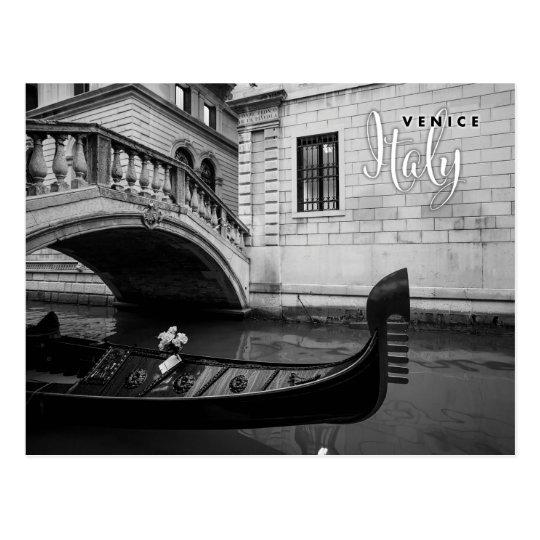 Postal Góndola en Venecia Italia