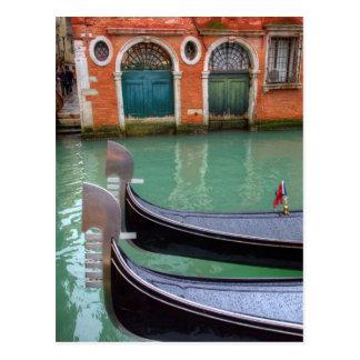 Postal Góndolas en el Gran Canal, Venecia