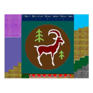 Postal Goodluck animal de la astrología del zodiaco del
