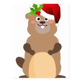 Postal Gopher del navidad de Papá Noel