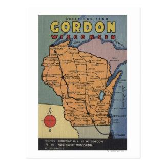 Postal Gordon, Wisconsin - escenas grandes de la letra