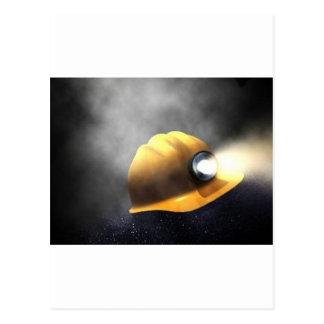 Postal gorra de los mineros de carbón