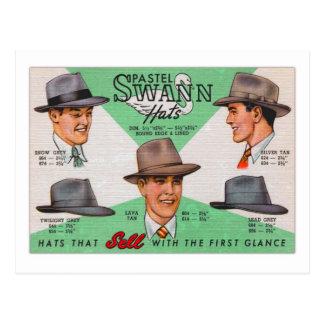 Postal Gorras para hombre Fedora de Swann del kitsch