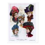 Postal Gorras tempranos del invierno de las señoras del