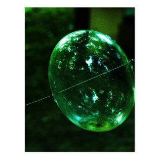 Postal Gota de agua del vidrio verde