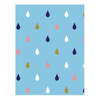 Postal Gotas de lluvia felices