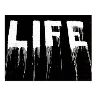 Postal Goteos de la pintada de la vida