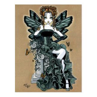 Postal gótica de la hada de la mariposa de las