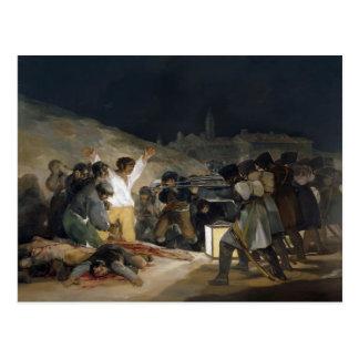 Postal Goya-Ejecución de Francisco de defensores de