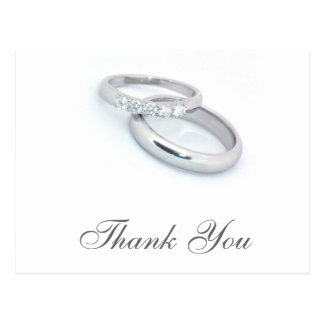 Postal Gracias/a las alianzas de boda de plata