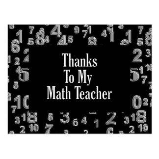 Postal Gracias a mi profesor de matemáticas