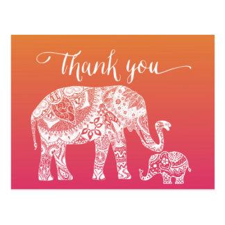 Postal Gracias - elefante de la alheña