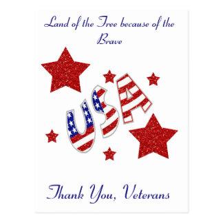 Postal Gracias los veteranos