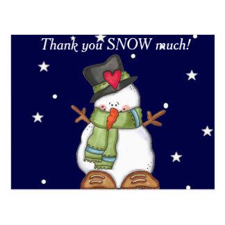 Postal Gracias nevar mucho (personalice)