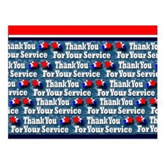 Postal Gracias por su servicio