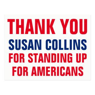 Postal Gracias Susan Collins que se levanta por